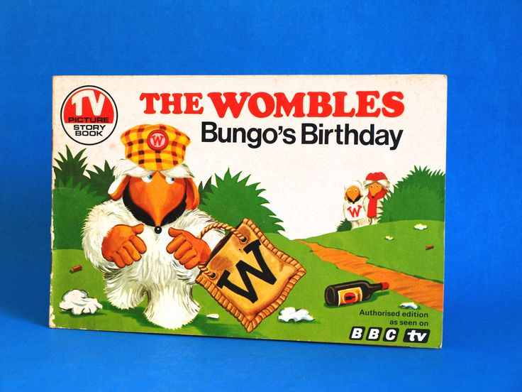 The Wombles Bungo's Birthday Book - Vintage Retro BBC TV Picture Story Book 1976 - Rare Collectable by FunkyKoala on Etsy