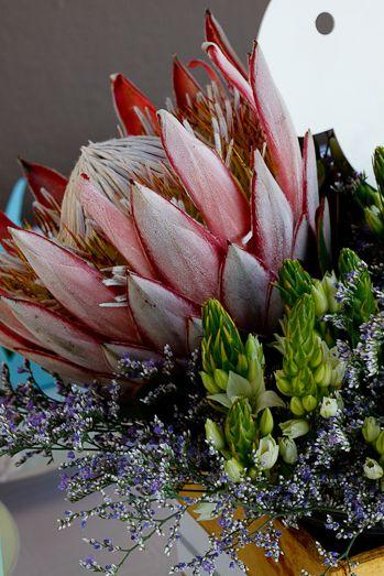 A protea centrepiece for Easter - via Simply Delicious