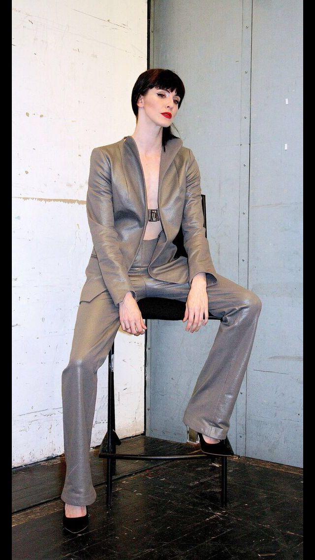 Gunmetal suit