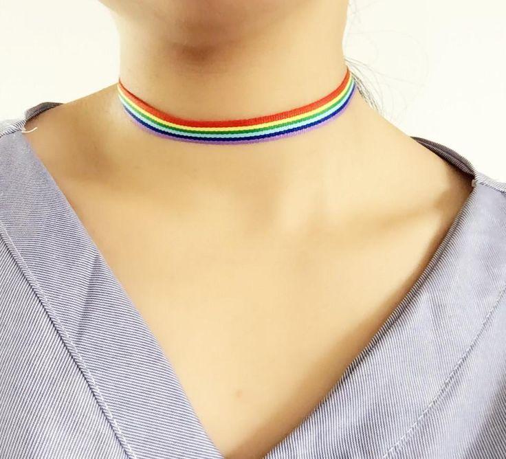 Rainbow Choker Necklace - Mermaid Freak