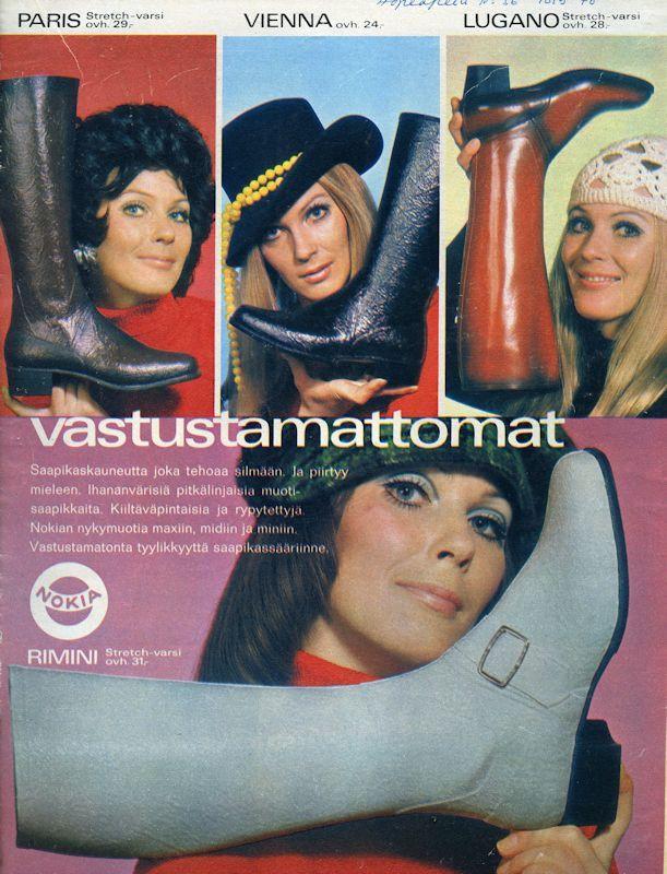 Nokian saapikkaita - 1970-luku