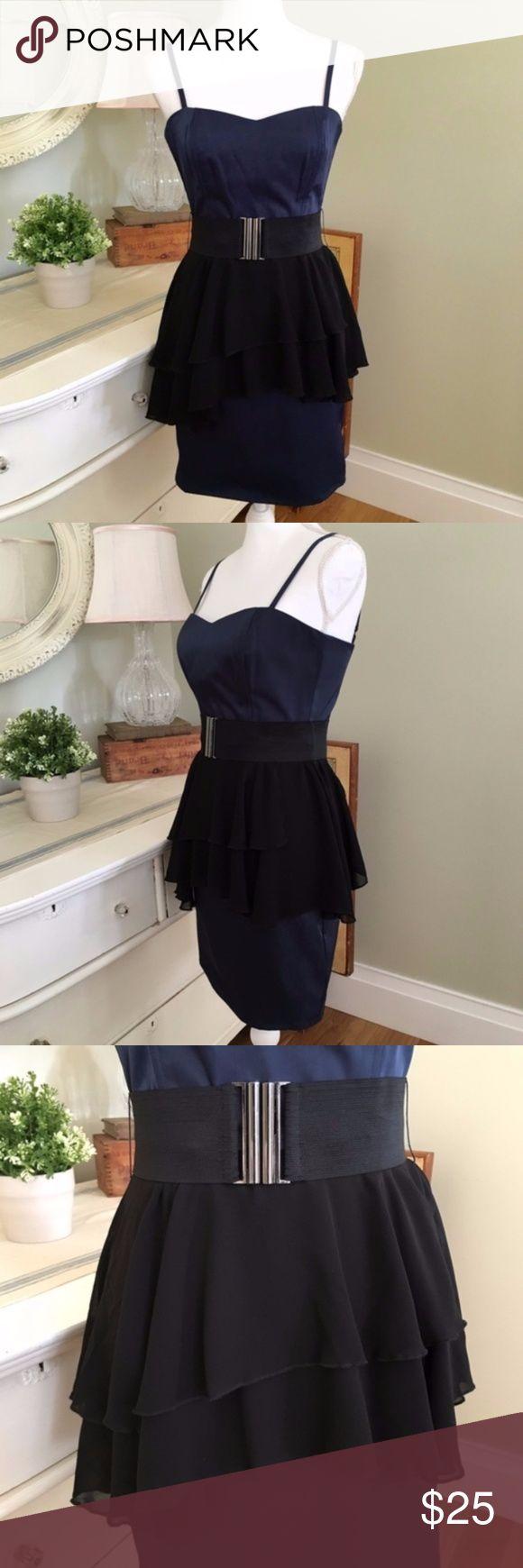 Blue dress size 6 nylon