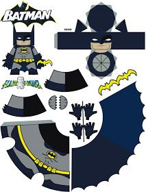 BAT - BLOG : BATMAN TOYS and COLLECTIBLES: New BATMAN ACTION FIGURE Paper Craft Toy