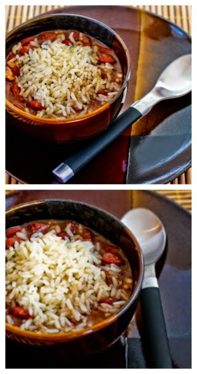 Slow Cooker Louisiana-Style Red Beans and Rice Recipe from Kalyn's Kitchen; so many people in my extended family are fans of this recipe!  [via Slow Cooker from Scratch] #SlowCooker  #LowGlycemic  #GlutenFree  #DairyFree