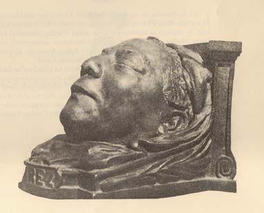 Máscara mortuoria de Benito Juárez. Imagen publicada en: Muerte del presidente Juárez, México, Secretaría del Trabajo y Previsión Social, 1972, p. 145.