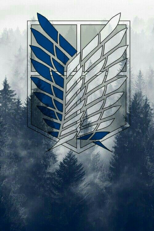 I always wanted a wallpaper like this so I made myself one... #attackontitan #attack #on #titan #wallpaper #blue #forest #eren #mikasa #armin #levi #jean #wings #of #freedom #liberty #flüger #der #freiheit #shingeki #no #kyojin