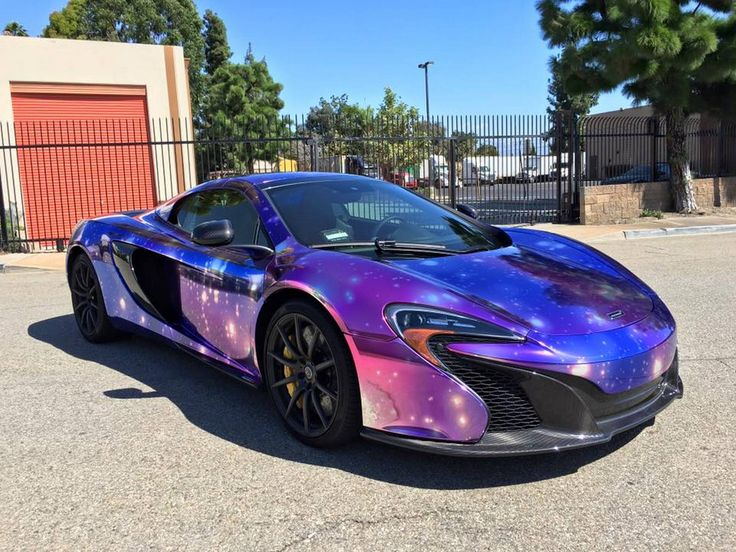 McLaren 650S Spider Wrapped in Galaxy Chrome - GTspirit