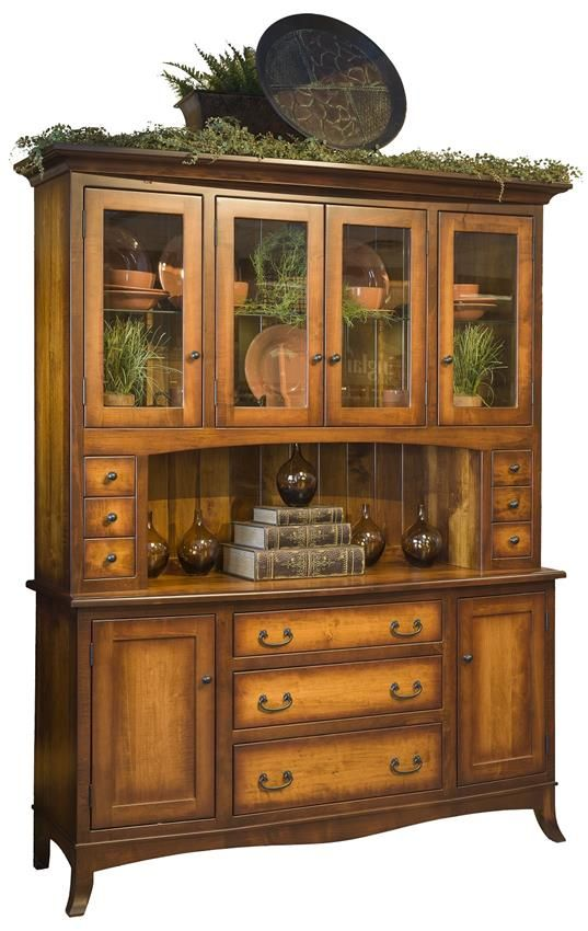Amish Montpelier Hutch Keep Your Dining Room Clutter Free With This Attractive Solid Wood Storage