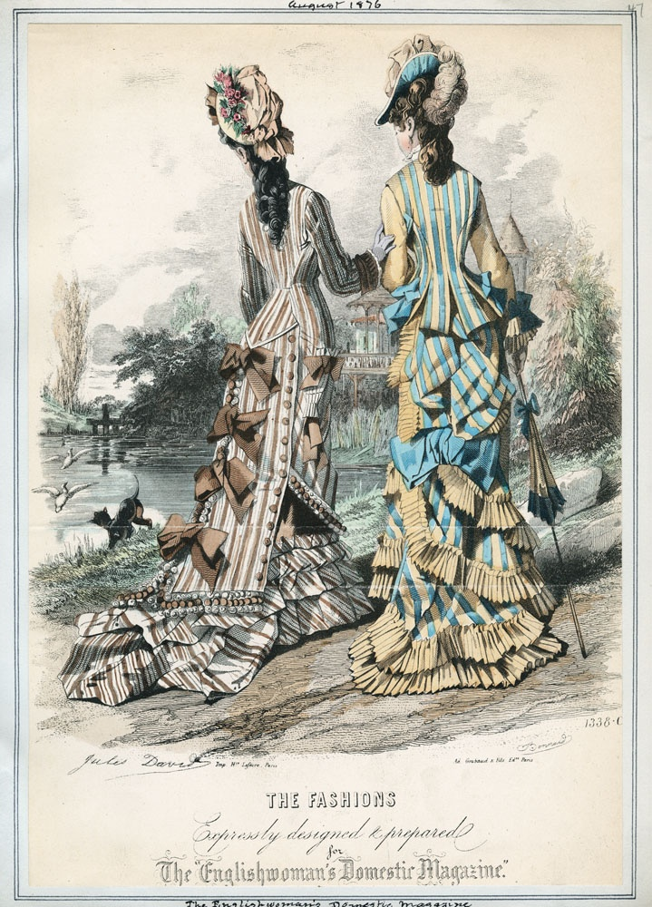 Fashion plate - The Englishwoman's Domestic Magazine, August 1876