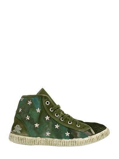 CARTA VETRATA - ORGANIC COTTON CANVAS HIGH TOP SNEAKER
