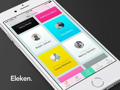 Cardsaround iOS App Animation by Eleken