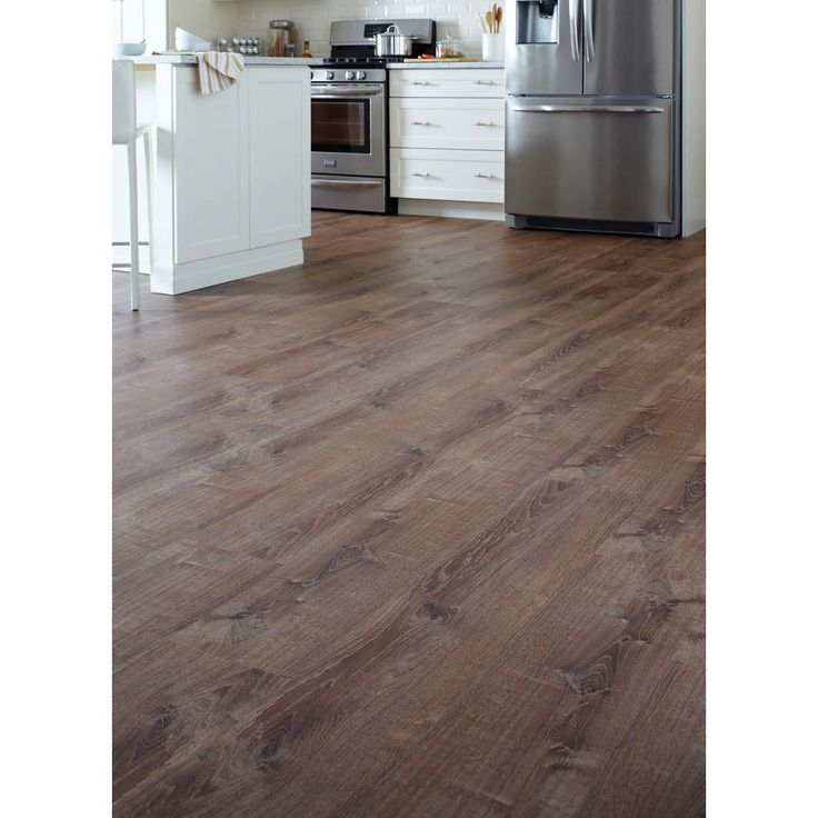 LifeProof 8.7 in. x 47.6 in. Burnt Oak Luxury Vinyl Plank Flooring (20.06 sq. ft. / case)-I966103L - The Home Depot