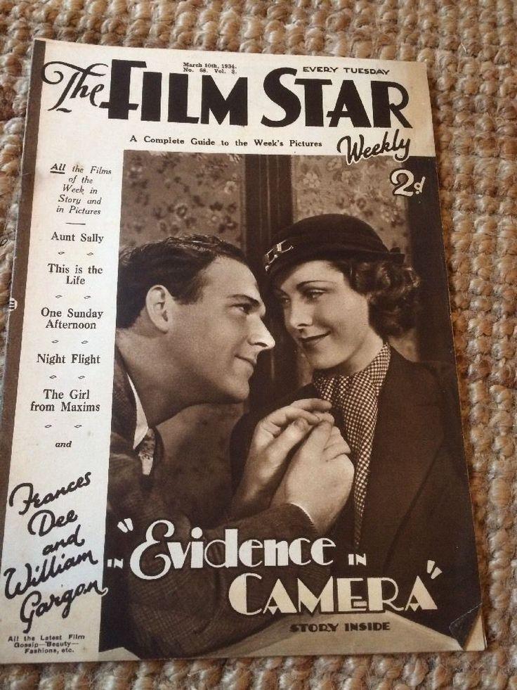 The Film Star Weekly 1934 Vol 3 No68,Frances Dee,Helen Hayes Etc | eBay