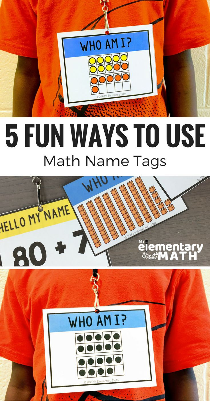 Learn how to use Math Name Tags to teach and review important math skills like place value, number sense and addition. All of the math activities are fun and interactive.