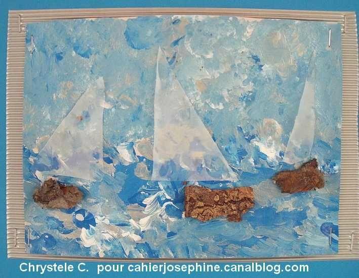 A la manière de....... Claude Monet - Les cahiers de Joséphine