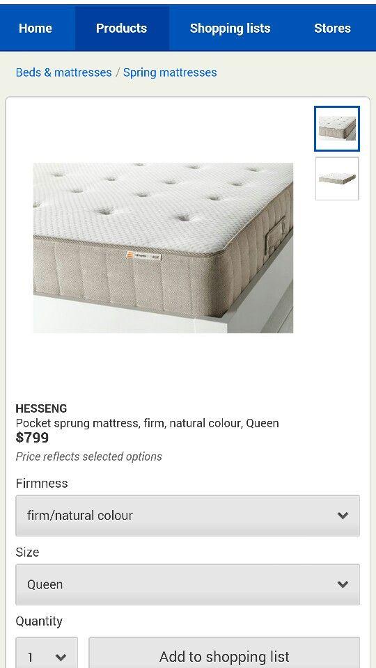 Ikea extra firm mattress queen size (or Ikea gift voucher to assist)