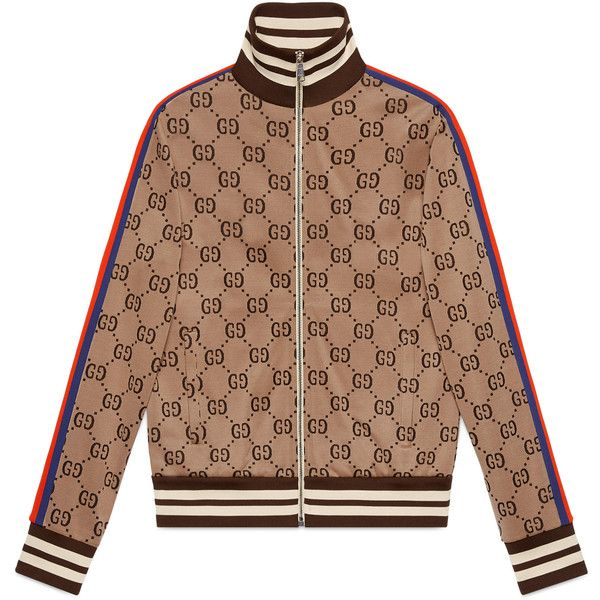 bf9dcfc27 Gucci Gg Jacquard Cotton Jacket ($1,650) ❤ liked on Polyvore ...