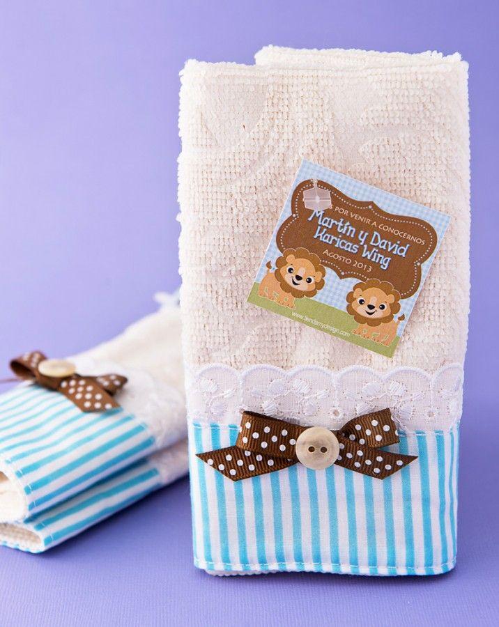 Toallitas - Tema de Animalitos - Recordatorios de Nacimiento