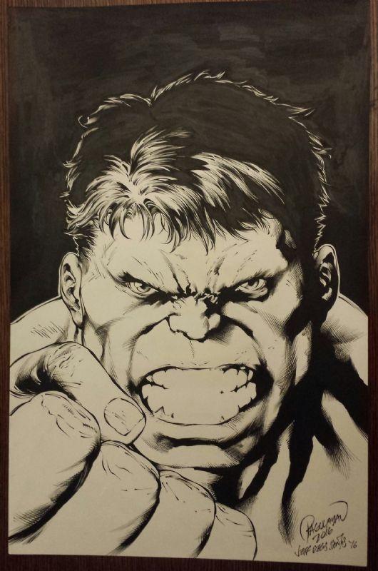 #Hulk #Fan #Art. (Bob Larkin Hulk homage) By: Carlo Pagulayan & Jeff De Los Santos. ÅWESOMENESS!!!™ ÅÅÅ+