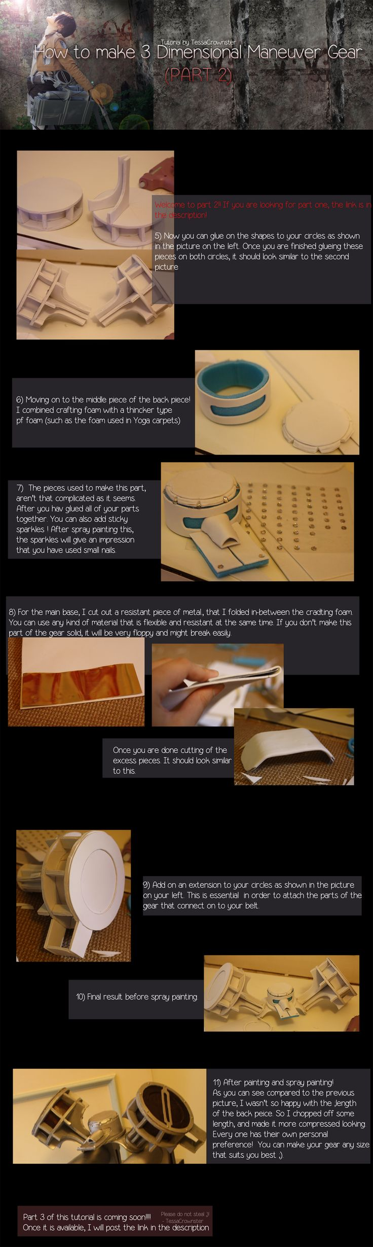 How to make 3 Dimensional Maneuver gear - [Part 2] by TessaCrownster.deviantart.com on @deviantART