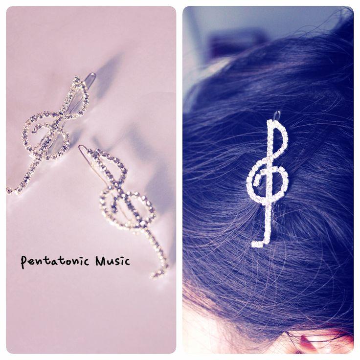 G Clef Clip Hair. Price : 40.000 idr. Untuk melihat produk lain follow instagram : pentatonicmusic atau website http://pentatonic-music.com