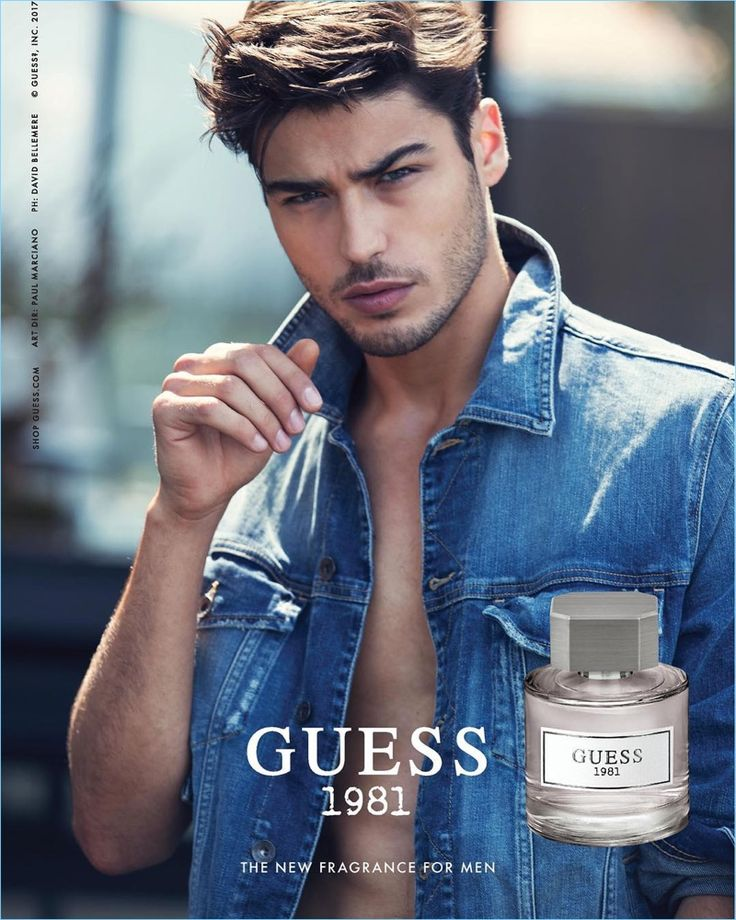 Model Alessandro Dellisola stars in the Guess 1981 fragrance campaign.