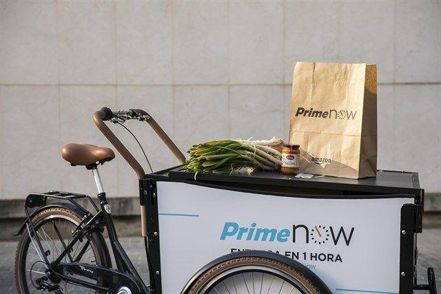 El servicio Prime Now de Amazon en Barcelona ha visto incrementada su actividad gracias al aumento de pedidos de calçots y otros productos complementarios.