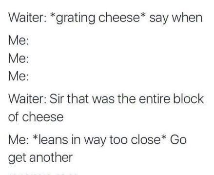SO, I LOVE CHEESE!
