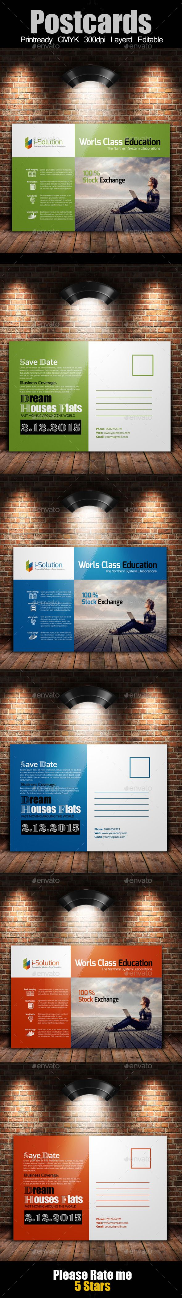 Education and Business Post Cards Template design