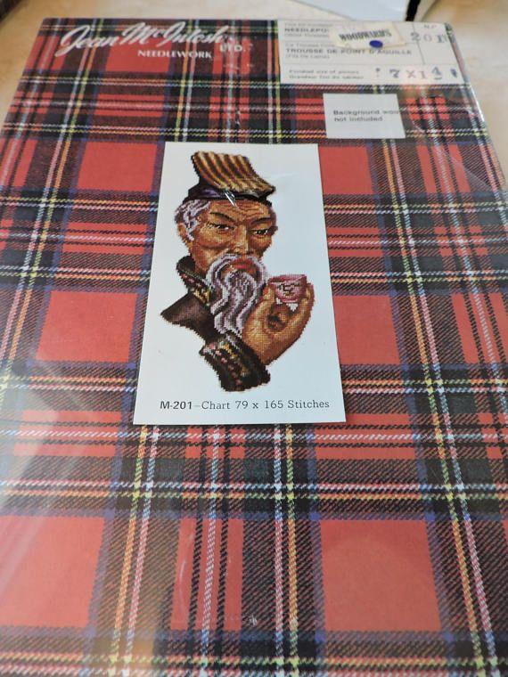Manchurain Asian Man Jean McIntosh Needlework Kit  201