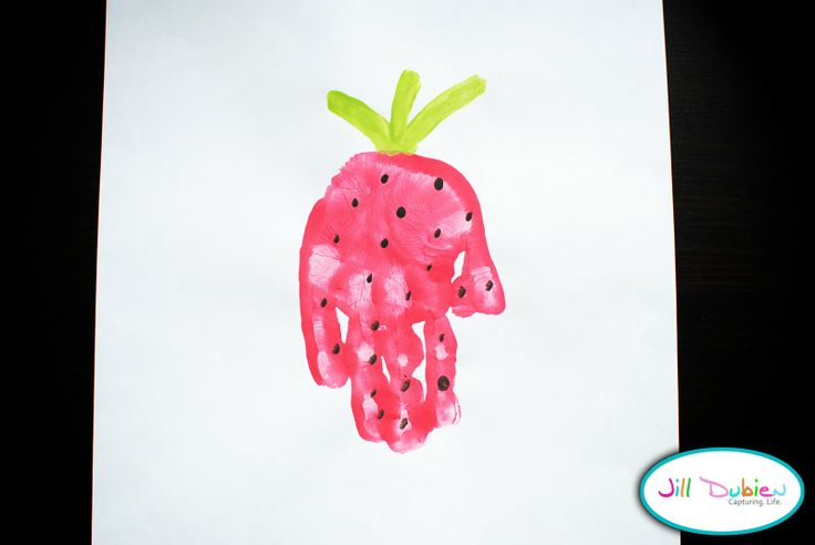 Meet the Dubiens: handprint strawberry