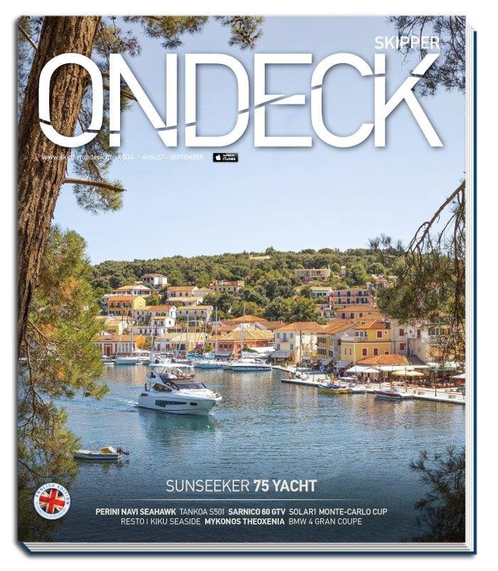 Skipper ONDECK #034. Summertime | www.skipperondeck.gr [cover: Sunseeker 75 Yacht @Corfu Island,Greece]