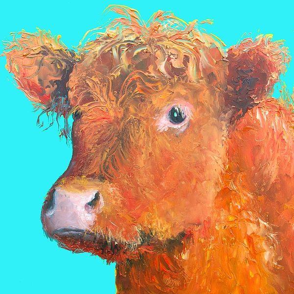 Highland Cow painting  #cowprint #cowart #rustichomedecor #kitchenart  #countrykitchendecor #kitchenwallart