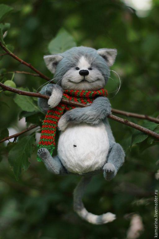 Купить Веня) - серый, мишка тедди, мишка ручной работы, кот, котик, котик тедди