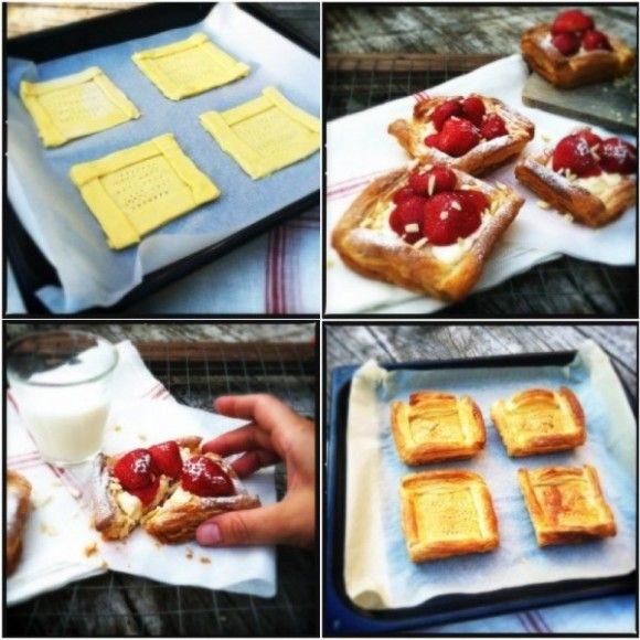 snelle zomerse aardbeien taartjes