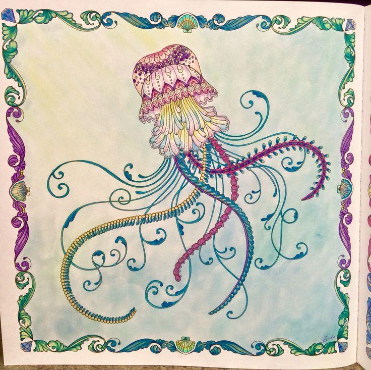 Johanna Basfords Lost Ocean Single Jellyfish Basford Coloring BookJelly