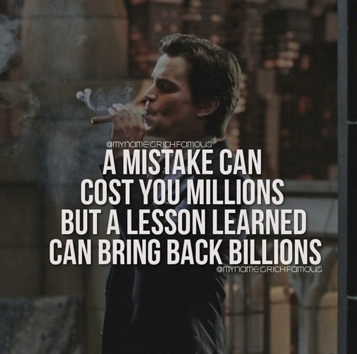 Pocket Change.....A mistake can cost you millions but a lesson learned can bring back billions.