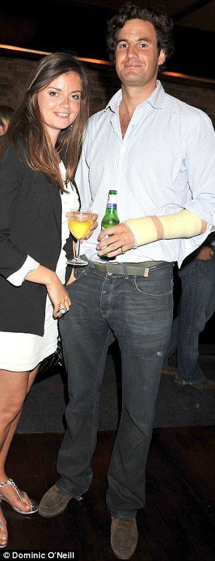 Rupert Finch, pictured with Lady Natasha Rufus