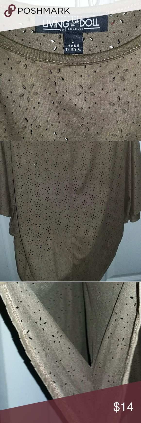 boho festival poncho Large awesome bohi gypsy festival brown suede material poncho. Perfect with a tank underneath with cutoffs. Cute piece for your wardrobe. In good condition size large Tops