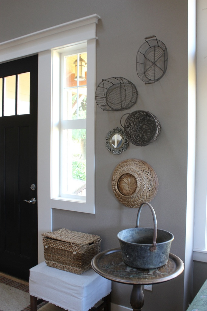 Baskets on the wall
