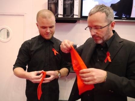 Professional Hairdresser Live 2013 - check out these gorgeous red Easydry  towels on our stand. www.easydry.com #prohairlive @easydryintl