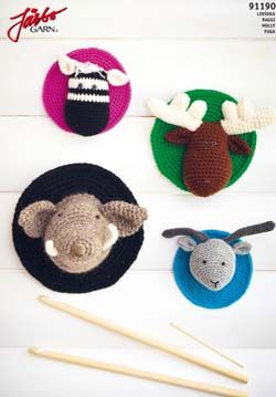 Crocheted animals, Animal heads and Crochet taxidermy on ...