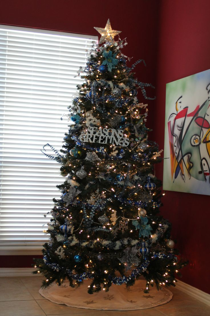 Christmas tree black and silver - Blue Silver Tree