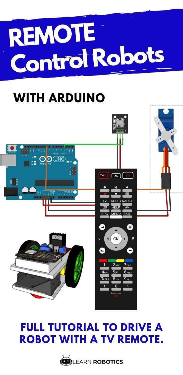 Program Arduino IR Remote to Control a Mobile Robot