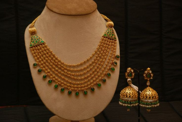 Gold Multi Layer Mala and by Amrapali, Jaipur  Ph: +919900033636. http://www.facebook.com/SakhiFashions