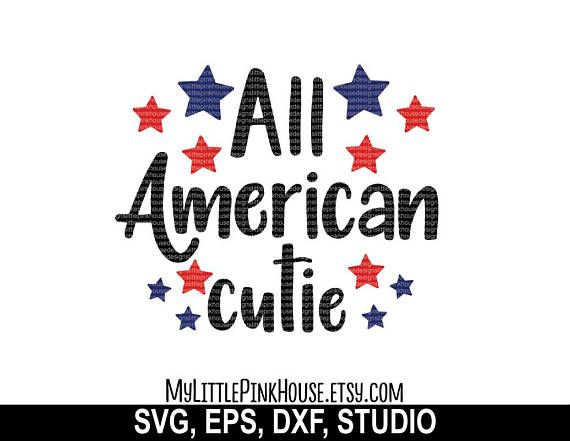 All American Girl SVG American svg July 4th svg dxf files