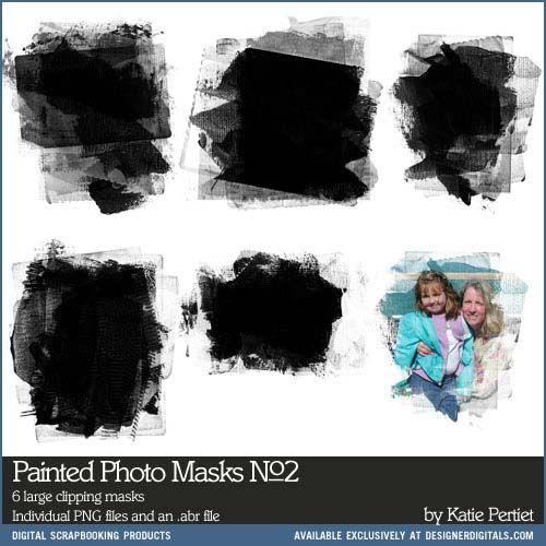 Painted Photo Masks Brushes and Stamps No. 02 #inked #roller #masks #art #paint #stamps #brushes #photoshop #artsy #designerdigitals #downloads