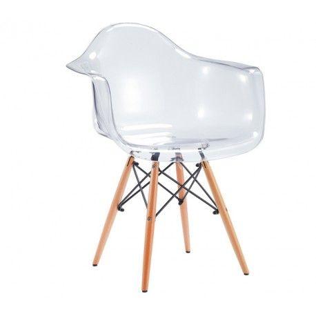 silla para saln con patas de madera y asiento de color medidas