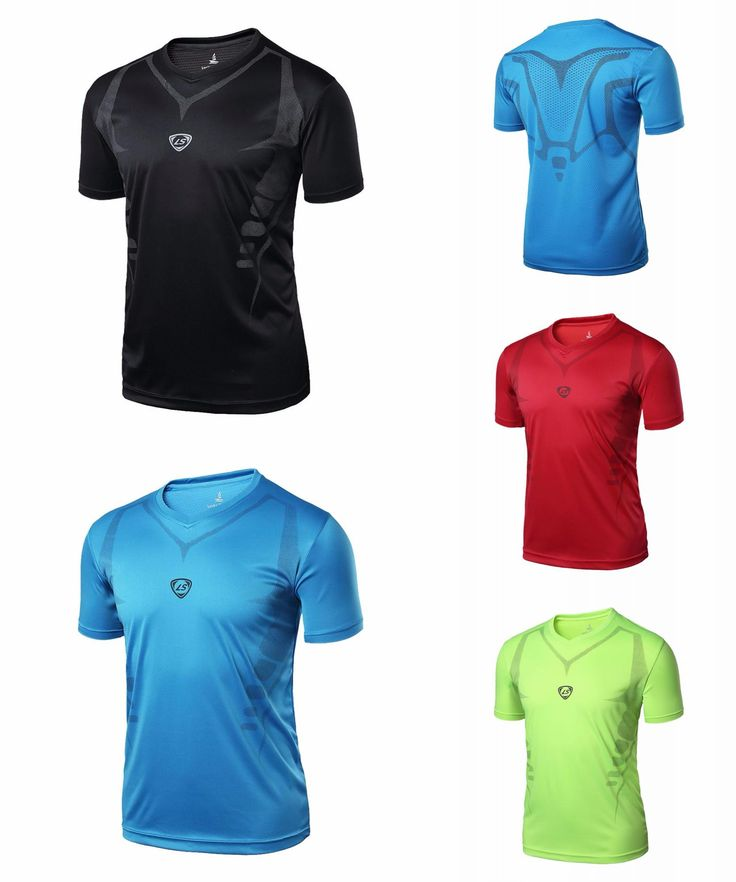 [Visit to Buy] LUCKY SAILING Sport Men Quick Dry Wicking Running T-shirts Mallas Hombre Training Compression Breathable Sports Fitness Gym Shir #Advertisement