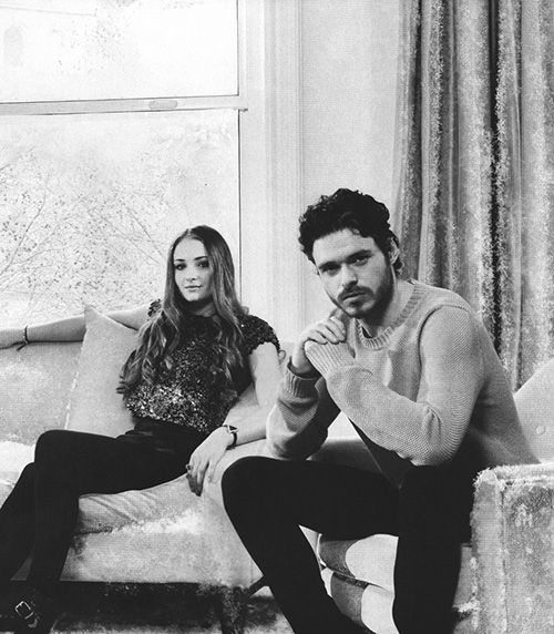 Richard Madden and Sophie Turner for Empire magazine, May 2013
